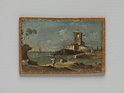 Capriccio with a Square Tower and Two Houses