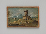 Capriccio with an Island, a Tower, and Houses