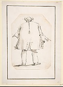 Caricature of a Fat Man, Seen From Behind