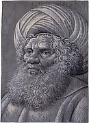 Head of a Bearded Man Wearing a Turban
