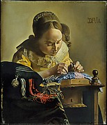 The Lacemaker (after Vermeer)