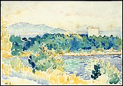 Mediterranean Landscape with a White House