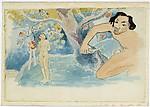 Hiro and the Virgin (after Paul Gauguin)