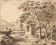 A Roadside Shrine and Cross