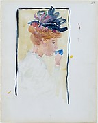 Large Boston Public Garden Sketchbook: A  woman drinking from a cup