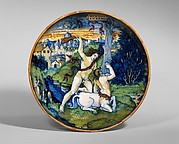 Dish (coppa): Hercules slays the centaur Nessus