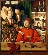 A Goldsmith in His Shop, Possibly Saint Eligius