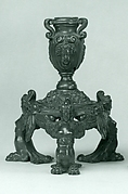 Candlestick supported by three female demi-figures (pair with .1379)