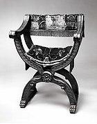 Hip-joint armchair (Dantesca type, associated with 1975.1.1975 a,b)