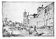 A Venetian Capriccio: A Rio Leading to a Bridge
