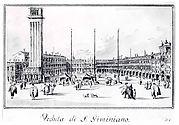 Piazza San Marco, Looking toward the Church of San Gemignano
