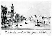 The Rio dei Greci, with the Ponte della Pieta in the Distance