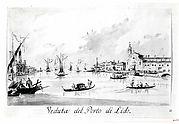 The Porto di Lido, with the Fortezza Sant'Andrea on the Left