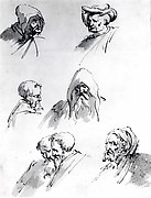 Seven Male Heads