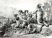Satyr Family in a Wild Landscape