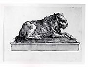 A Lion, Lying Toward the Right (on a Base)