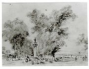 Landscape with Road and Monument