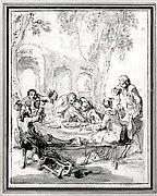 Revelers at a Table in the Countryside