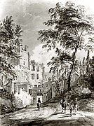 Travelers Entering a Town