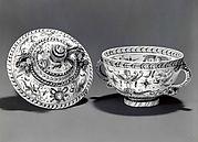 Soup bowl with cover (tazza con coperchio)