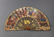 Folding fan with The Finding of Romulus and Remus