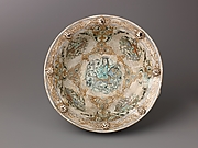 "Basin with Handles, Minai'i (""enameled"") ware"