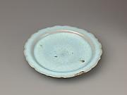 Foliate-rim plate, Jun ware