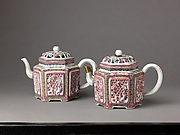 Hexagonal wine pot or teapot (pair with 1975.1.1707)