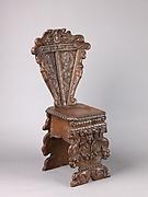 Side chair (sgabello a dorsale))