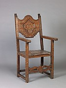 High-back chair (pair with 1975.1.1998)
