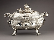 Silver Tureen (a), lid (b) and liner (c) [pair with 1975.1.2561a,b]