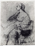 A Young Woman Seated in a Chair