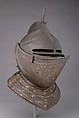 Close-Helmet, Steel, polychromy, British or Flemish