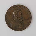 Medal Showing Henry II of France, Bronze, French