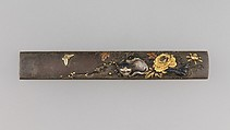 Knife Handle (Kozuka), Copper-silver alloy (shibuichi), gold, silver, brass, Japanese
