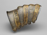Portions of a Crinet (Horse's Neck Defense), Steel, leather, Italian, probably Brescia