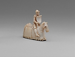 Chess Piece in the Form of a Knight, Ivory (elephant), Western European, possibly England