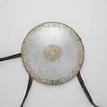 Set of Four Mirrors, Iron, gold, silver, textile, leather, probably Tibetan