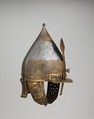 Helmet, Steel, iron, gold, copper alloy, possibly Turkish, Istanbul, in the style of Turkman armor