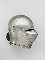 Armet, Stamped with the armorer's name, LIONARDO (Italian, probably active in Milan, ca. 1440), Steel, copper alloy, Italian, probably Milan