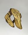 Shaffron (Horse's Head Defense), Gold, copper alloy (tombak), leather, textile, Turkish