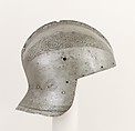 Bowl of a Sallet, Steel, gold, Italian, probably Milan