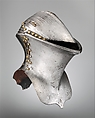 Helm for the Joust of Peace (Stechhelm), Steel, copper alloy, German, probably Nuremberg