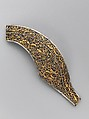 Right Half of a Cantle Plate from a Saddle, Iron, gold, silver, Tibetan or Chinese