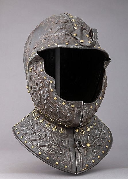 Burgonet, Steel, gold, copper alloy, French