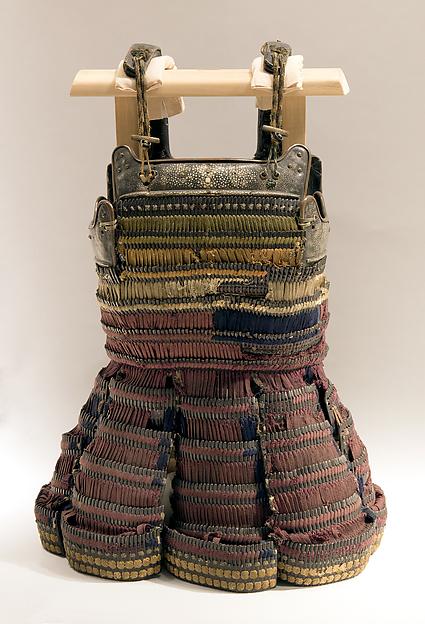 Cuirass (Haramaki Dō), Iron, leather, silk, rayskin, lacquer, copper, horn, Japanese