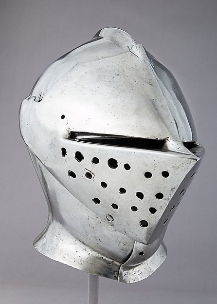Armet, Possibly by Guillem Margot (Flemish, active Brussels, recorded 1505–20), Steel, copper alloy, Flemish