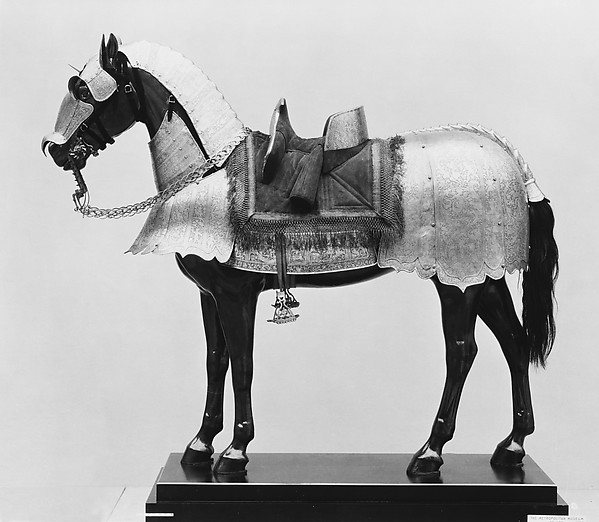 Cantle Plate (Rear Saddle Plate) From a Horse Armor Probably Made for Count  Antonio IV Collalto (1548–1620), Steel, Italian, probably Brescia