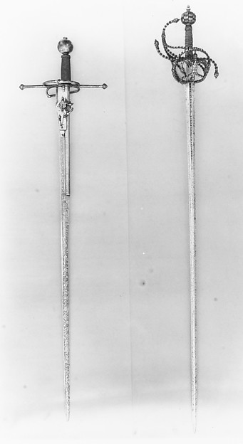 Combination Sword with Wheellock Pistol, Steel, gold, iron wire, German, Saxony