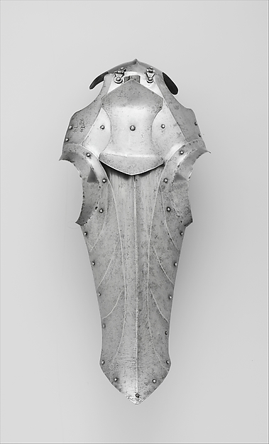 Composed Armor for Man and Horse, Left reinforcing elbow stamped with marks belonging to the Missaglia workshop (Italian, Milan, recorded 1430–1529), Steel, brass, leather, textile (velvet, wool), iron, European, Italy, Spain, Flanders and England